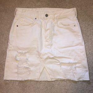 FOREVER 21 White denim skirt